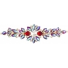 Crystal Motifs Floral 18cm Red Aurora Borealis/gold